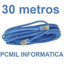 Cabo De Rede Cat5 Ethernet 30 Metros Internet Pronto P/ Usar