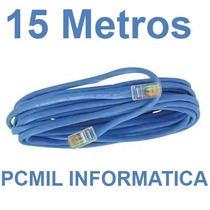 Cabo De Rede Cat5 Ethernet 15 Metros Internet Frete Gratis