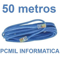 Cabo De Rede Cat5 Ethernet 50 Metros Internet Pronto P/ Usar