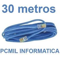 Cabo De Rede Cat5 Ethernet 30 Metros Internet Frete Gratis