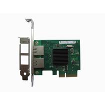 Placa De Rede Pci-e X4 Dual 2 Porta Giga Chipset Intel 82575