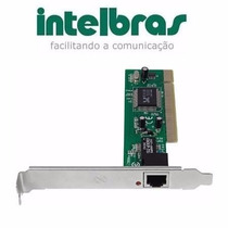 Placa De Rede Pci Intelbras 10/100 Mbps Frete Gratis