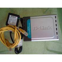 Modem Roteador 4portas D Link Di-604 Cabo Rj45 Fonte 110v