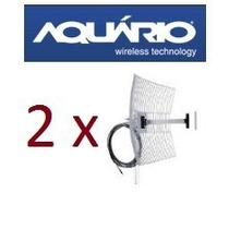 Kit 2 Antena De Grade Usb 2.4 Ghz 25 Dbi C Cabo 10m Aquario