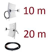 Kit Mm2425f10 + Mm2425f20 Antenas Com Cabo De 10 E 20 Metros