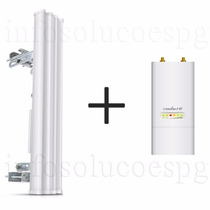 Basestation Ubiquiti Am-5g20-90 20dbi 90º 5ghz + Rocket M5