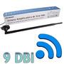 Antena 9dbi Rede Wireless C/ Base Magnética Cabo 1,5mts Sma