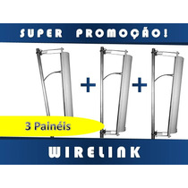 Painel Setorial 21dbi 120° Vertical Ou Horizontal Kit Com 3