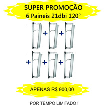 Painel Setorial 21dbi 120° Vertical Ou Horizontal Kit Com 6