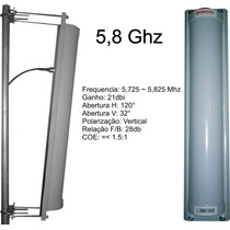 Antena Painel Setorial 5,8ghz 21dbi 120° Vertical
