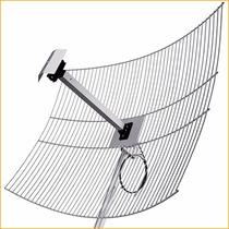 Antena Grade Aquário 2,4 Ghz 25 Dbi Cabo 1metro Sma Mm2425f1