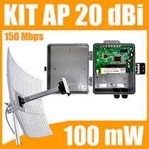Kit Cliente Wireless 2,4 Ghz 150 Mbps Com Antena De 20 Dbi