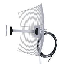 Antena Parábola Grade 2.4 Ghz 25dbi Para Internet Cabo 10mts