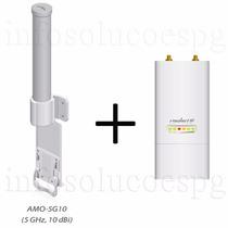 Ubiquiti Airmax Antena Amo-5g10 Omni 10dbi + Rocket M5 Mimo