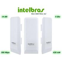Antena Wireless Cpe Intelbras Wom 5000 5ghz 14dbi Mimo 2x2