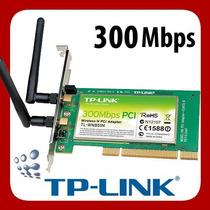 Adaptador Wireless Pci De 300 Mbps Tp-link Tl-wn 851nd Dual