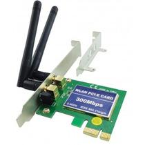 Placa Pci-e Fpr-300m Rede Sem Fio 2 Antenas + Perfil Baixo