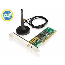 Placa De Rede Pci Wireless Wifi Sem Fio 54m G Antena Externa