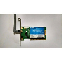 Placa Rede Wireless Pci D-link Dwl-g510
