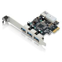 Placa Multilaser Pci Express 480 Mbps 3portas Frontais+1 Por