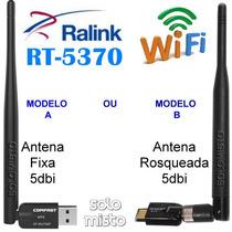 Adaptador Wifi Usb 150m Antena 5dbi Ralink Rt 5370 Receptor