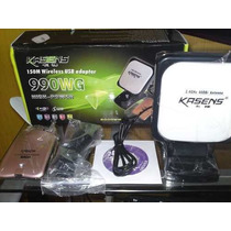 Adaptador Antena Wireless Usb Kasens 6000mw Rtl3070