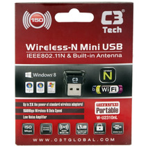 Adaptador C3 Tech Wireless Usb 150 Mbps W-u2310nl (f)