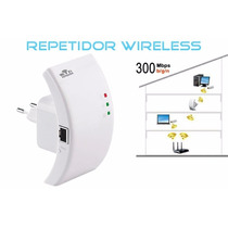 Repetidor Expansor Sinal Rede Wireless Wifi 300mbps Rj45 Wps