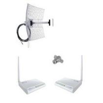 Kit Antena Aquário 25dbi + 2 Rádios Wr2500 1000mw + Conector