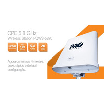 Kit Cliente 5.8 Ghz Com Antena 20 Dbi + Cpe Bridge 2.4ghz