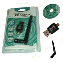 Mini Adaptador Wireless Usb Wifi 150mbps Lan B/g/n 2.4ghz