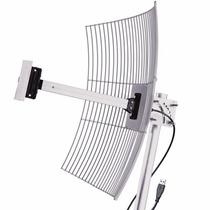Antena Usb Parabolica Grade Com Cabo Usb De 1 Metros E 20 D