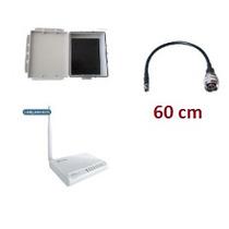 Kit Wr2500hp Roteador 1000mw + Cabo 60cm + Caixa Hermética