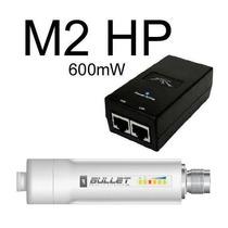 Ubiquiti Bullet-m2-hp Outdoor 2.4ghz 600mw + Fonte Poe 24v