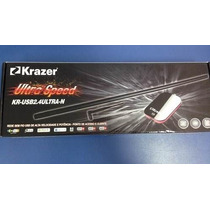 Adaptador Usb Wireless Krazer 2000mw 150mbps + Antena 9 Dbi