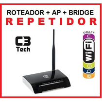 Roteador Wireless Wifi 150mbps Longo Alcance C3 Repetidor