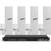 Kit Provedor Profissional Mikrotik - 2.4 Ghz - 4 Setorais