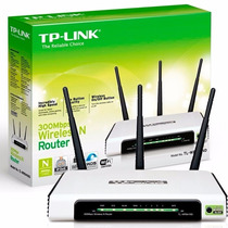 Roteador Tp-link Wireless 300mbps Tl-wr 941nd Wifi 3 Antenas