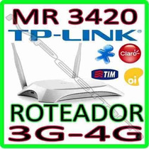 Roteador Tp-link Wireless Tl-mr3420 3g/4g 3.75g 300mbps Wifi