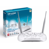 Modem Roteador Wi-fi Tp-link Adsl2 Wireless 300mbps Td W8968