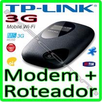 Modem + Roteador 3g Móvel Tp-link M5350 C/ Bateria * Wi-fi *