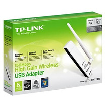 Adaptador Wireless Tp-link Usb Alto Ganho N 150mbps (tl-wn72