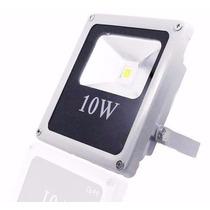 Refletor Led Holofote 10w Bivolt Prova Dágua - Branco Frio