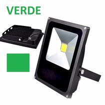 Kit 10 Refletor Led Holofote 20w Verde Bivolt Ip66 Promoção