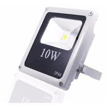 Refletor Led 10w Holofote Branco Frio Bivolt Prova Dágua