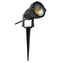 Luminária Espeto C/ Lâmpada Cob Led 5w P/ Iluminação Jardim