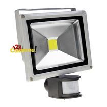 Refletor Led 20w Branco Frio Sensor De Presença Uso Externo