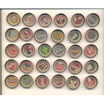 Coleção Completa 30 Tampinhas Refrigerante Coca Cola 2012