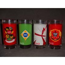 4 Copos Coca-cola Copa D Mundo Brasil 2014 Paises Garrafinha