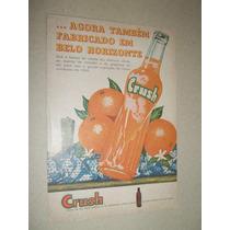 Cartaz.poster.placa.propaganda Antiga Original Crush.